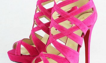 Pink high heels new trend of the year 2012