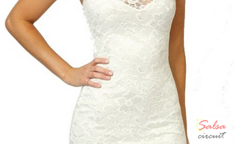 Women's Sexy Polo Neck Floral Lace Cocktail Evening Mini Dress